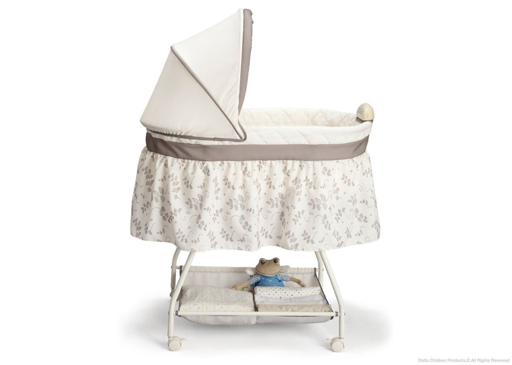 Delta Children Falling Leaves Deluxe Sweet Beginnings Bassinet, Full Side View