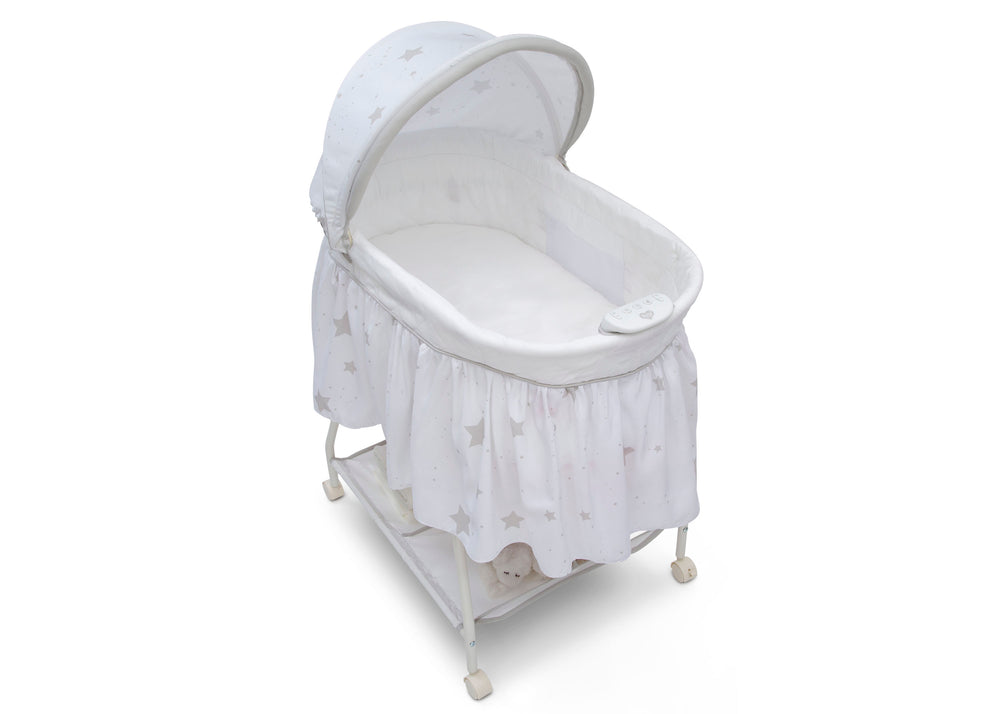 Delta Children Stardust (2066) Deluxe Sweet Beginnings Bassinet, Top View h4h