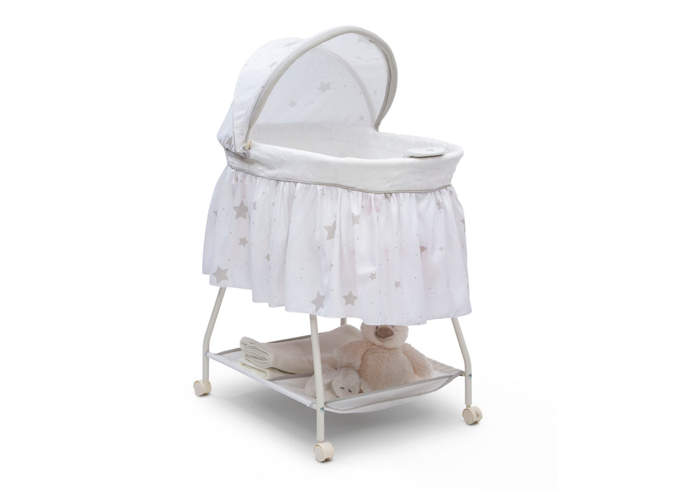 Delta Children Stardust (2066) Deluxe Sweet Beginnings Bassinet, Right View h3h