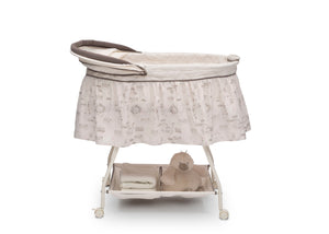 Delta Children Playtime Jungle (270) Deluxe Sweet Beginnings Bassinet, Side View g1g