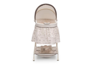 Delta Children Playtime Jungle (270) Deluxe Sweet Beginnings Bassinet, Front Silo View g2g