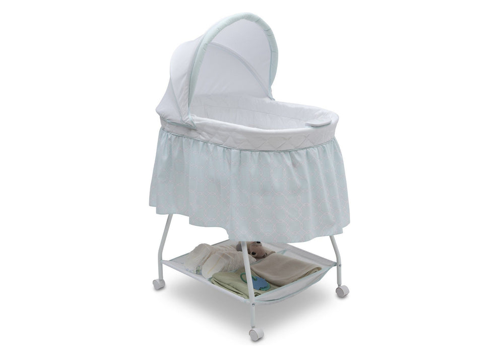 Delta Children Tivoli Gardens (373) Deluxe Sweet Beginnings Bassinet, Right View f1f