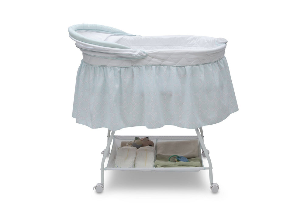 Delta Children Tivoli Gardens (373) Deluxe Sweet Beginnings Bassinet, Side View f2f