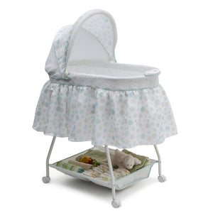 Delta Children Lots-A-Dots (371) Ultimate Sweet Beginnings Bassinet, Right Side View g1g