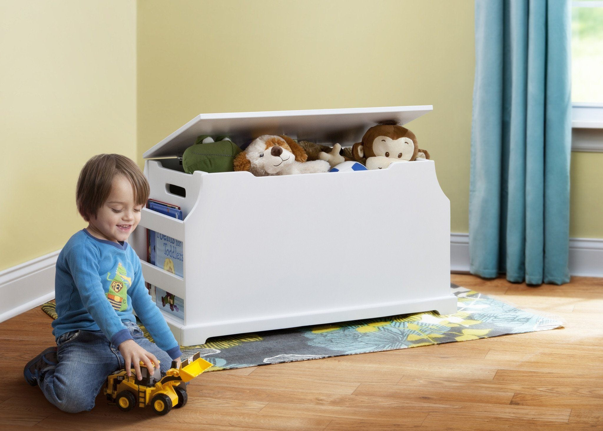 Delta Children White (100) Wood Toy Box with Setting a1a