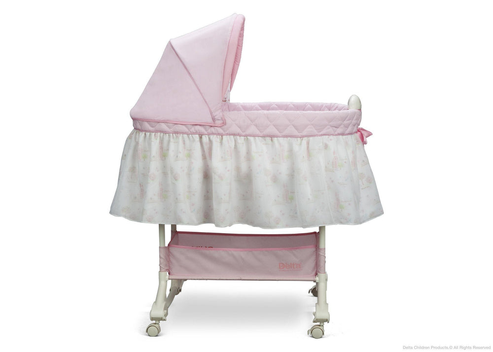 Delta Children Dream Princess Rocking Bassinet, Full Side View