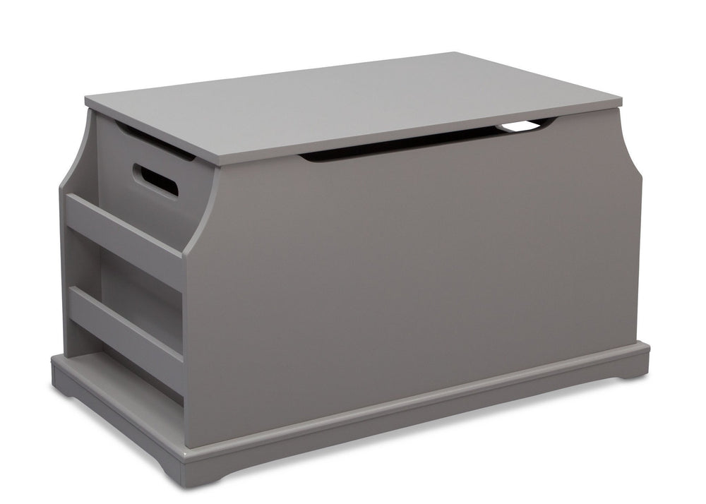 Delta Children Classic Grey (028) Next Steps Toy Box, Side View a2a