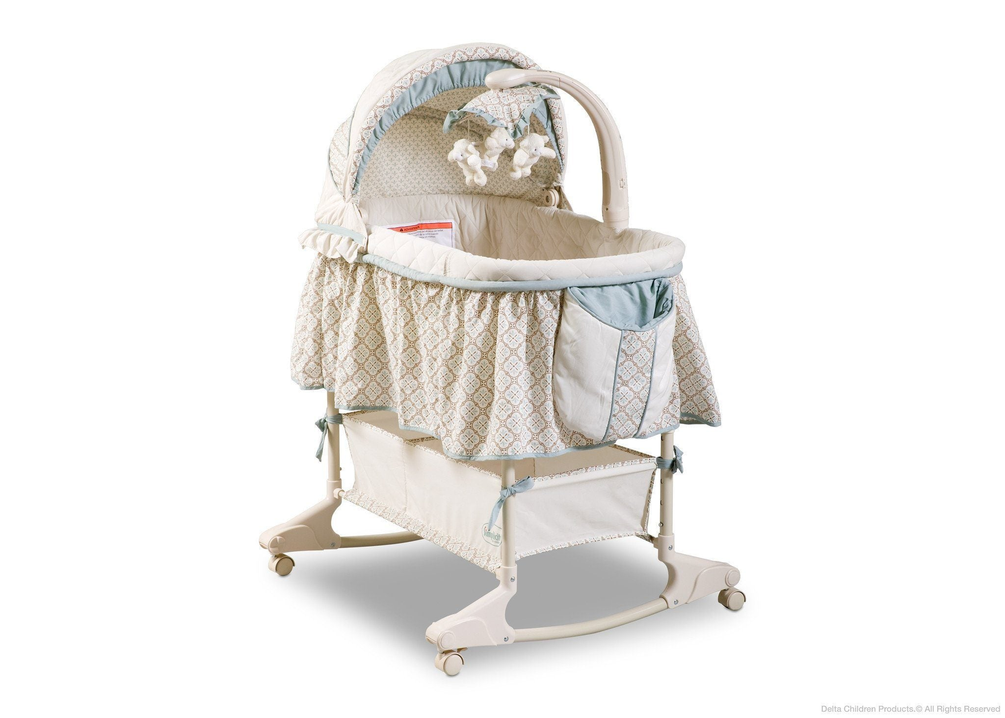 Delta Children Clayton (020) Rocking Bassinet Side View a1a