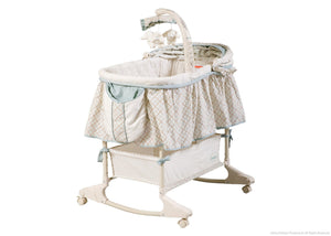 Delta Children Clayton (020) Rocking Bassinet Right Side View Canopy Option 2