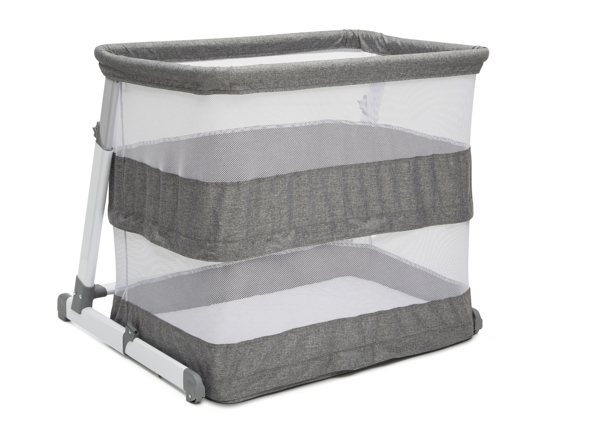 Beautyrest Grey Tweed (2012) Room2Grow Newborn Bassinet to Infant Sleeper (25502), Silo Opened Full Way, a5a