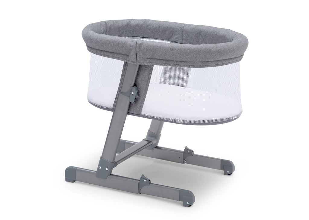 Simmons Kids Grey Tweed (2012) Oval City Sleeper Bassinet, Right Side View a3a