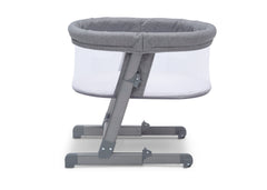 Simmons Kids Grey Tweed (2012) Oval City Sleeper Bassinet, Side View a4a