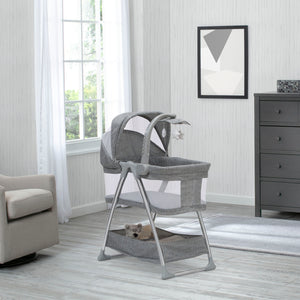 Simmons Kids Grey Tweed (2012) City Sleeper Bassinet, Room View
