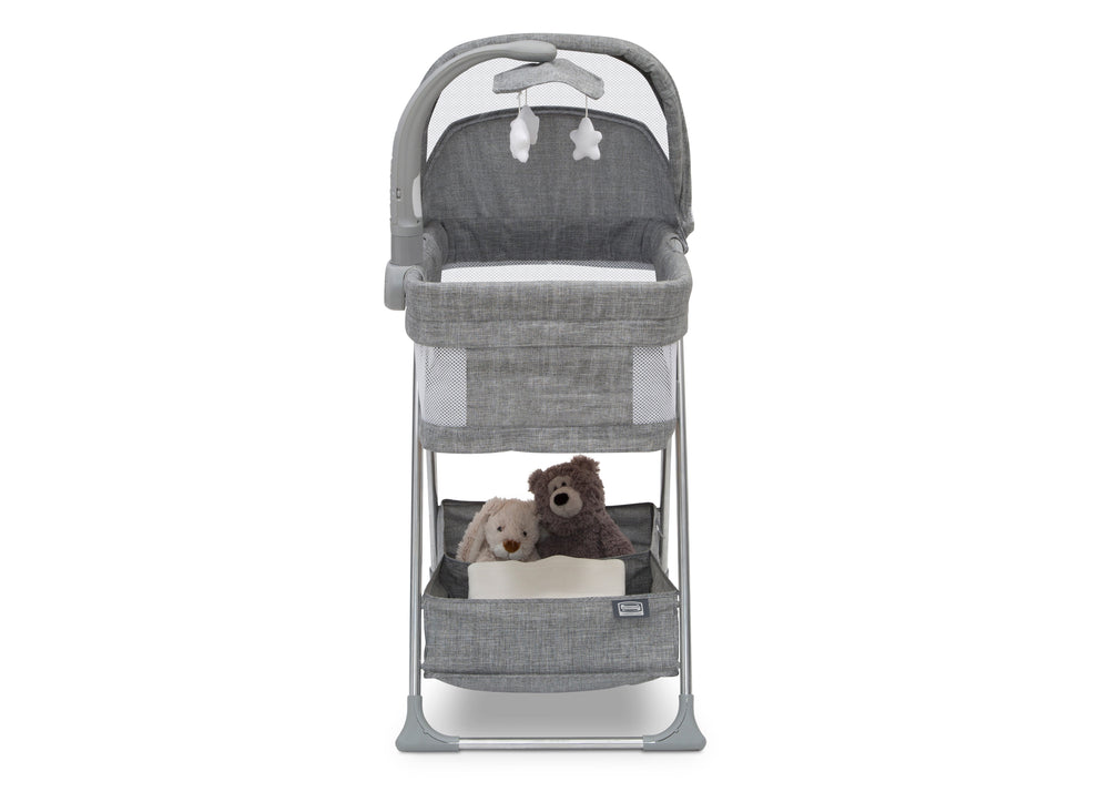 Simmons Kids Grey Tweed (2012) City Sleeper Bassinet, Front Silo View