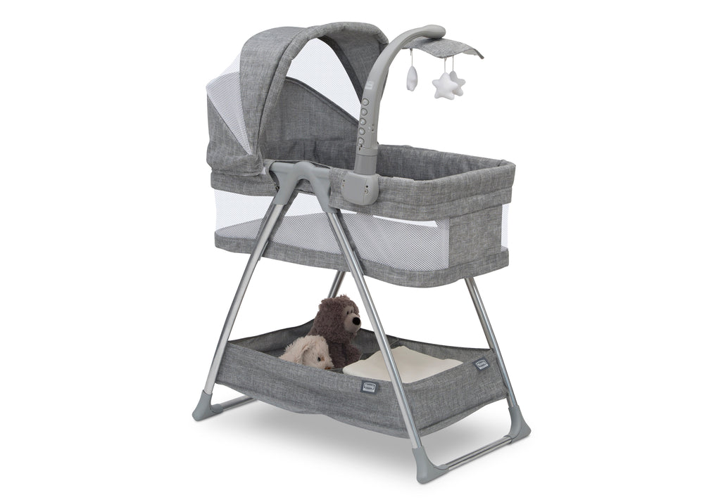 Simmons Kids Grey Tweed (2012) City Sleeper Bassinet, Right Silo View