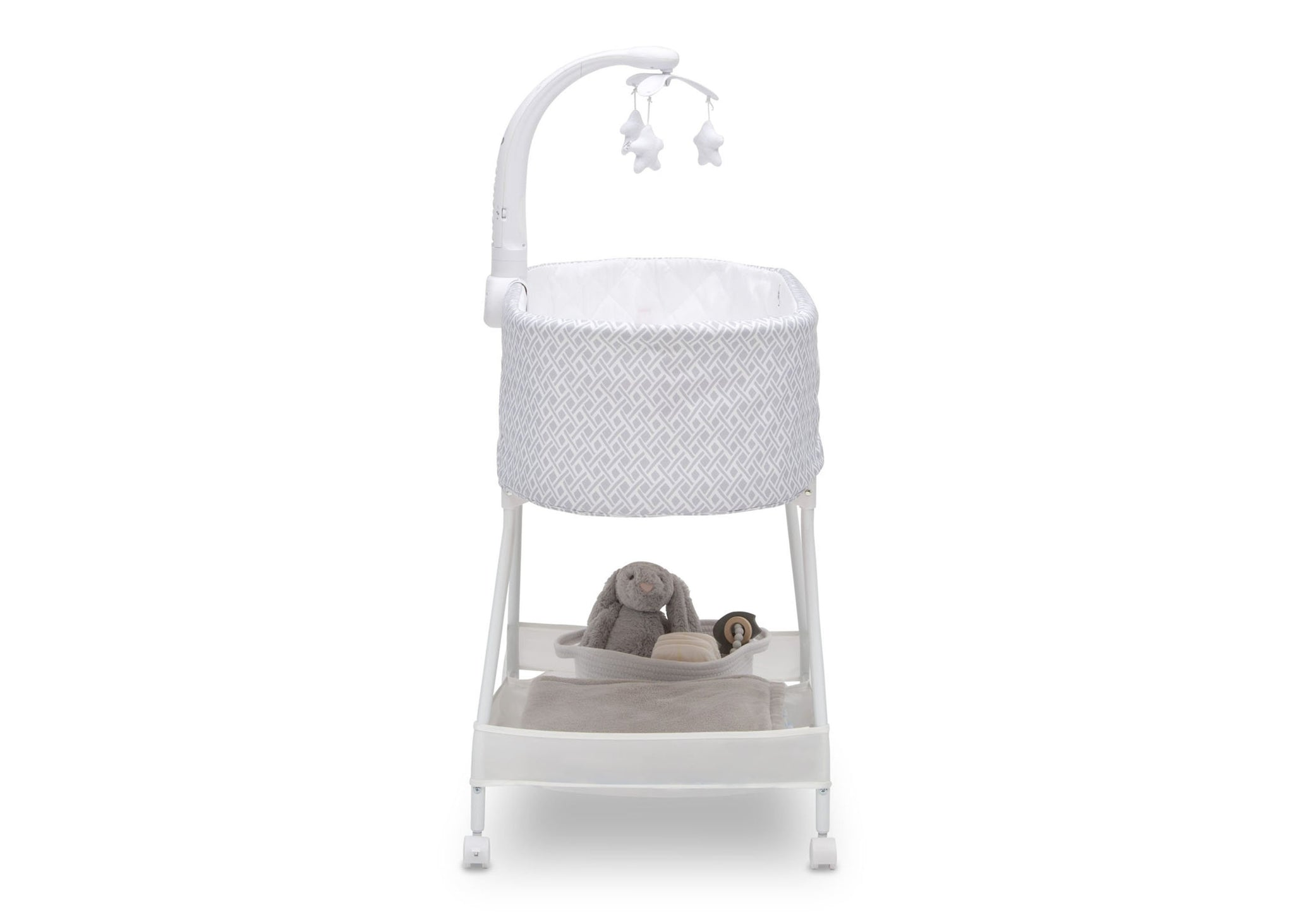 Delta Children Garden Path (2175) Sweet Slumber Bassinet, Front Silo View
