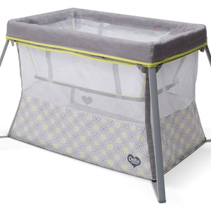 Delta Children Mosaic Viaggi + Playard, Side View with Bassinet Insert a1a