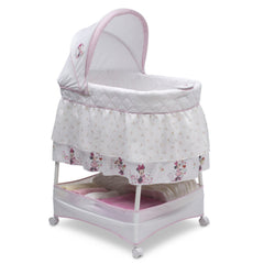 Delta Children Minnie Floral (2276) Gliding Bassinet, Right Side View g1g