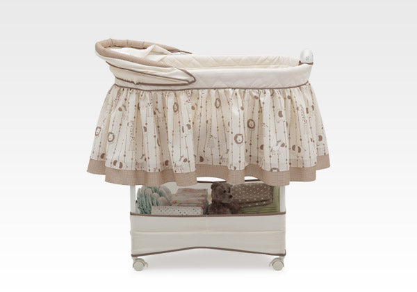 Delta Children Safari Carousel (292) Gliding Bassinet Right Side View c1c