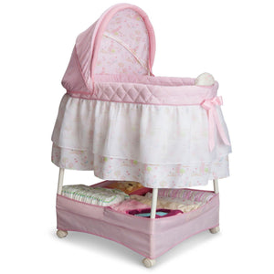 Delta Children Pink Princess (661) Gliding Bassinet Right Side View d1d