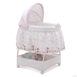 Delta Children Minnie's World Gliding Bassinet, Right Side View a1a