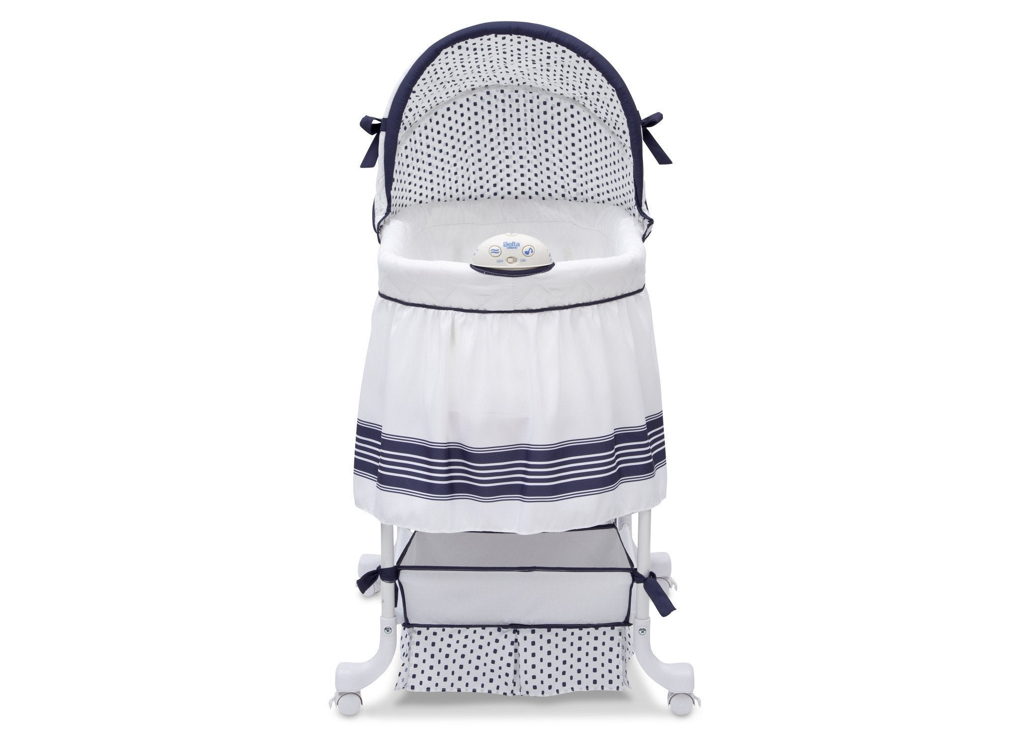 Delta Children Marina (407) Smooth Glide Bassinet, Front View a2a