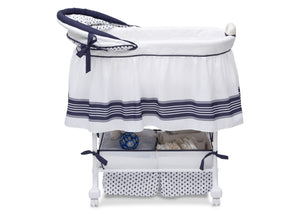 Delta Children Marina (407) Smooth Glide Bassinet, Full Right Side View a3a