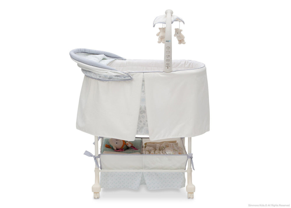 Simmons Kids Paisley (091) Beautyrest Studio Gliding Bassinet (27303) Side View a2a