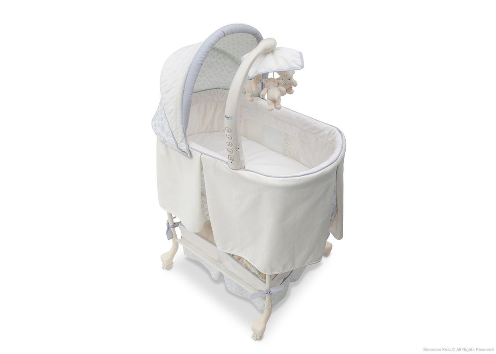 Simmons Kids Paisley (091) Beautyrest Studio Gliding Bassinet Right Side View a3a