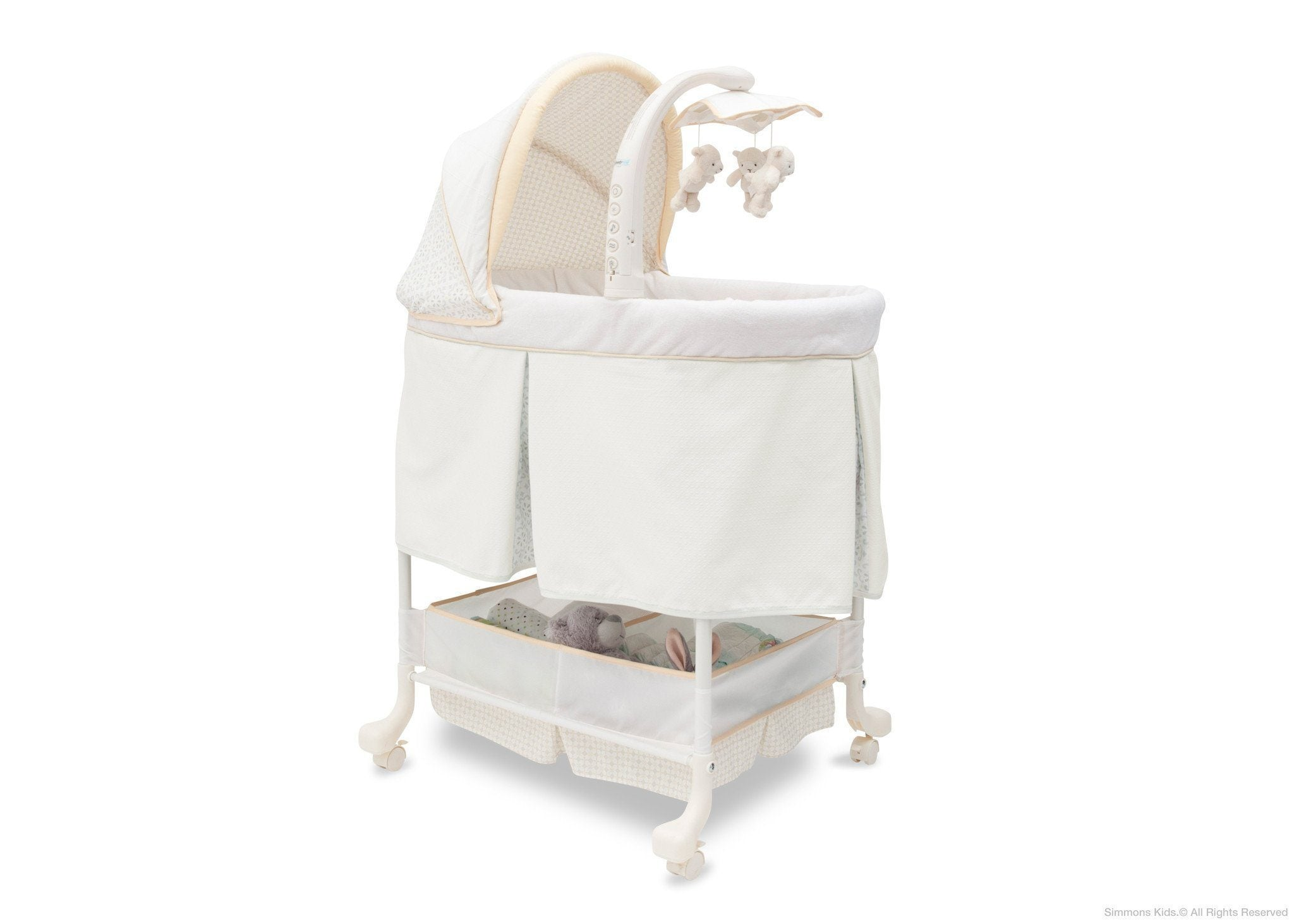 Simmons Kids Sunshower (742) Beautyrest Studio Gliding Bassinet (27303) Right Side View c1c