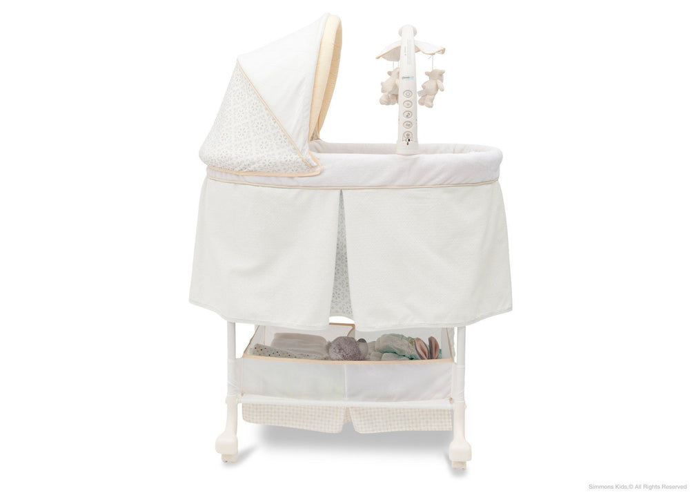 Simmons Kids Sunshower (742) Beautyrest Studio Gliding Bassinet (27303) Full Side View c2c