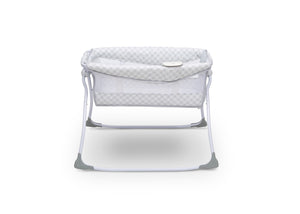 Delta Children Grey Infinity (434) Newborn Soothing Sleeper Bassinet, Side Silo View