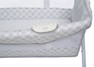 Delta Children Grey Infinity (434) Newborn Soothing Sleeper Bassinet, Detail View