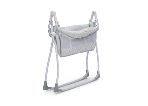 Delta Children Grey Infinity (434) Newborn Soothing Sleeper Bassinet, Folded View