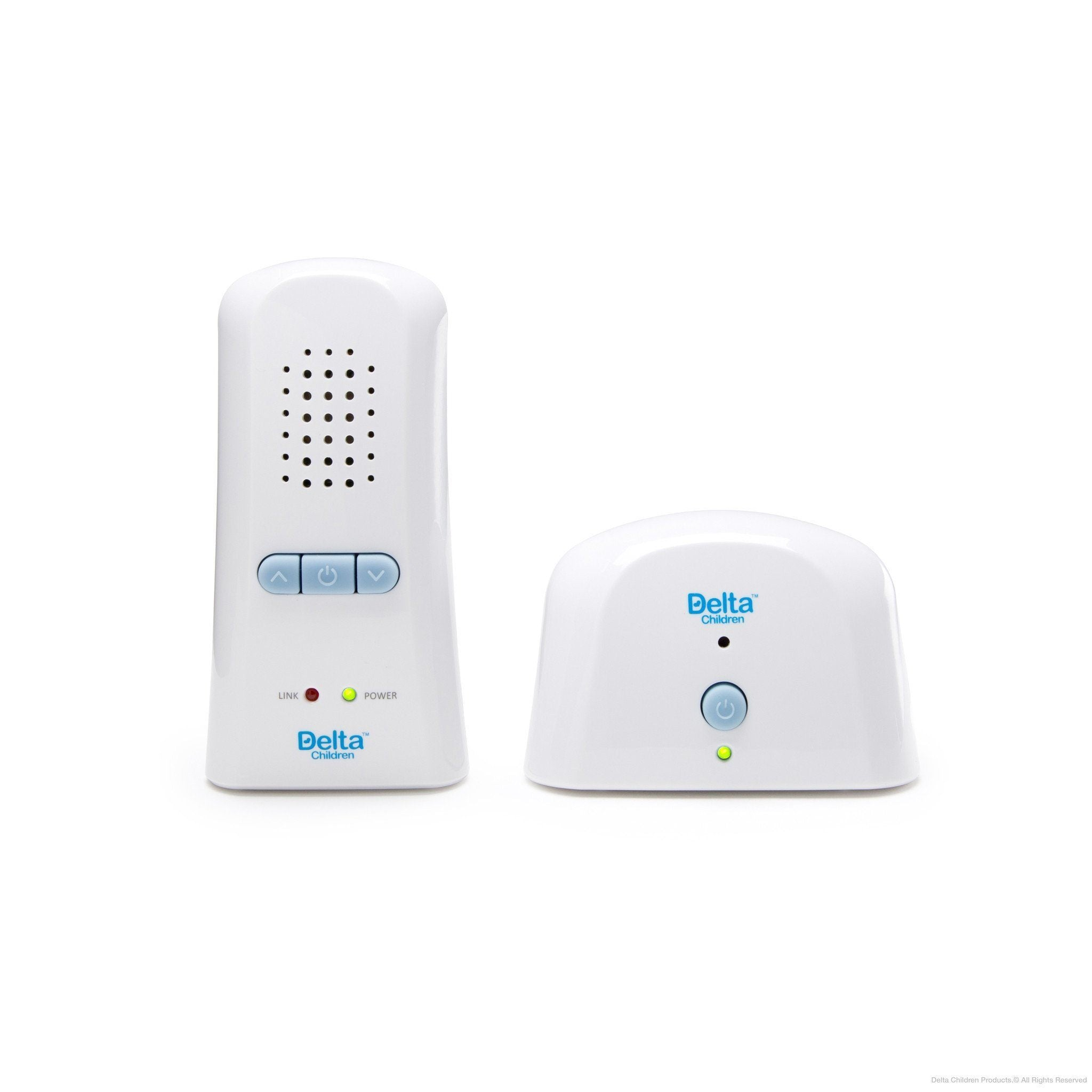 Delta Children Safe-n-Clear White (114) Digital Baby Monitor (non LED), Front View a1a