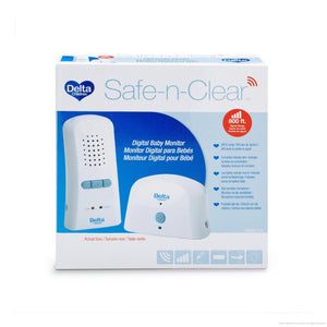 Delta Children Safe-n-Clear White (114) Digital Baby Monitor (non LED), Boxed View a3a