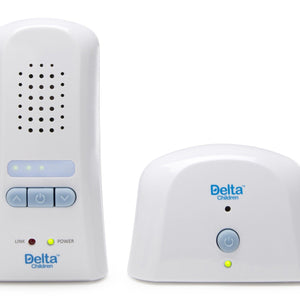 Delta Children Safe-n-Clear White (114) Digital Baby Monitor with LED, Front View a1a
