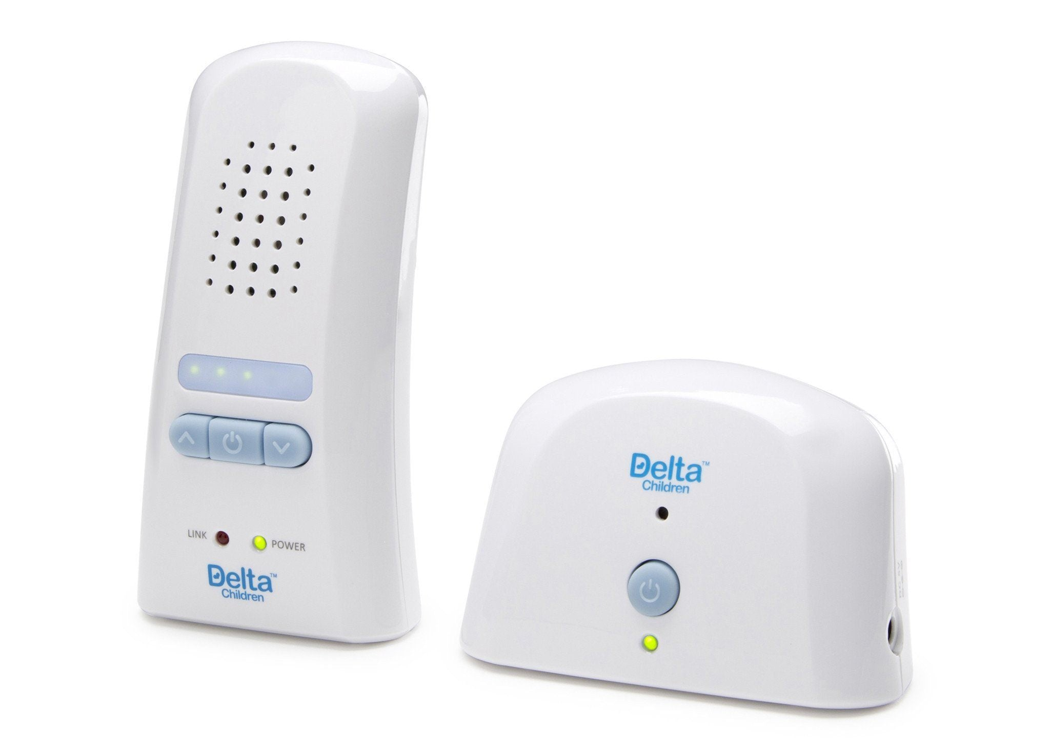 Delta Children Safe-n-Clear White (114) Digital Baby Monitor with LED, Side View a2a