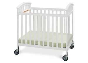 Simmons Kids White (100) Laurel Crib, Side View a2a