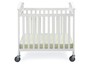Simmons Kids White (100) Laurel Crib, Front View a1a