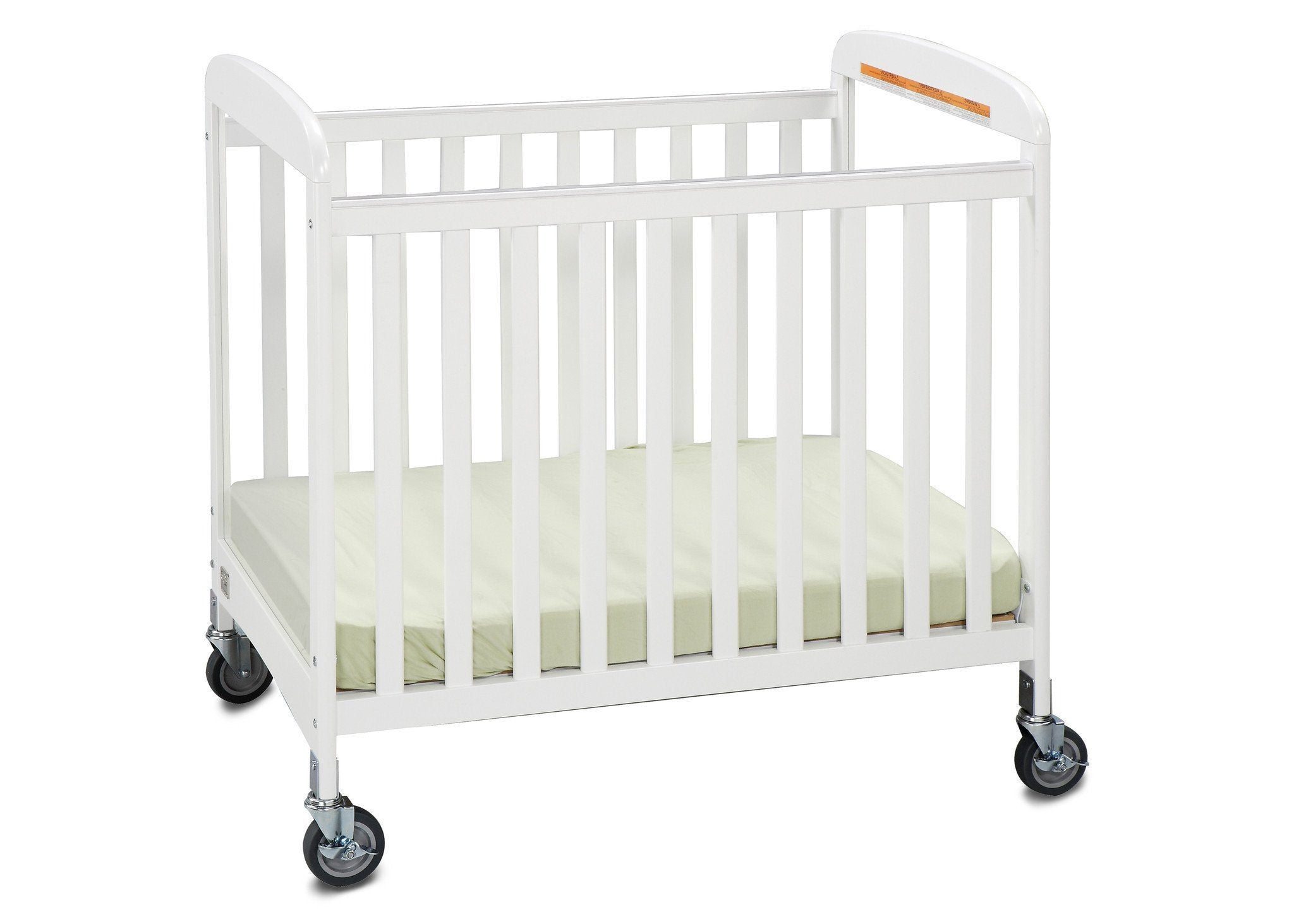 Simmons Kids White (100) Sweet Dreamer Crib, Right Side View a2a