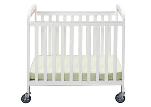Simmons Kids White (100) Sweet Dreamer Crib, Front View a1a