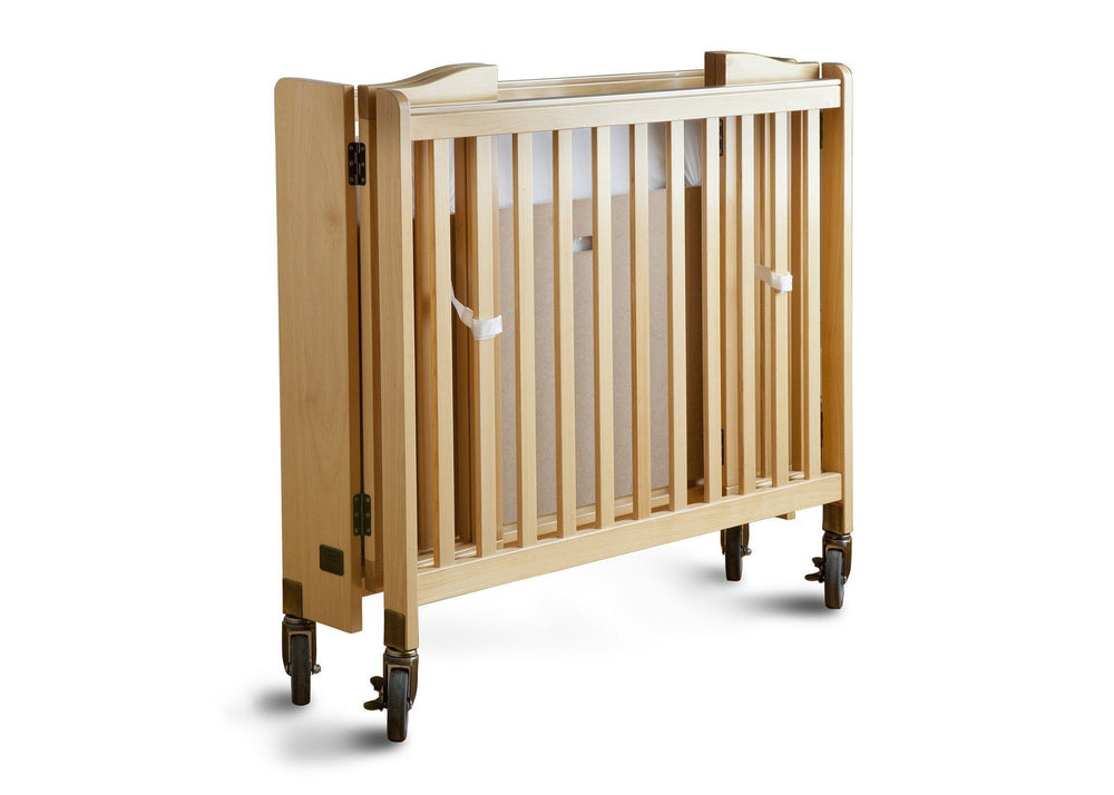 Simmons Kids Natural (260) Foldaway Crib, Folded a2a