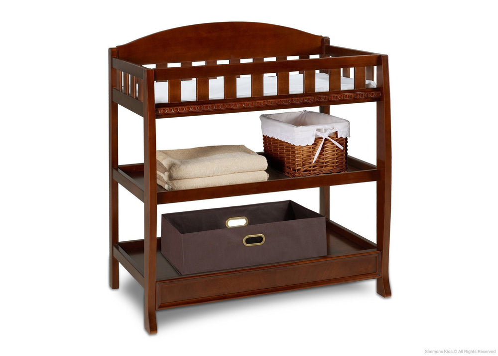 Simmons Kids Espresso Truffle (208) Elite Changing Table with Props a2a