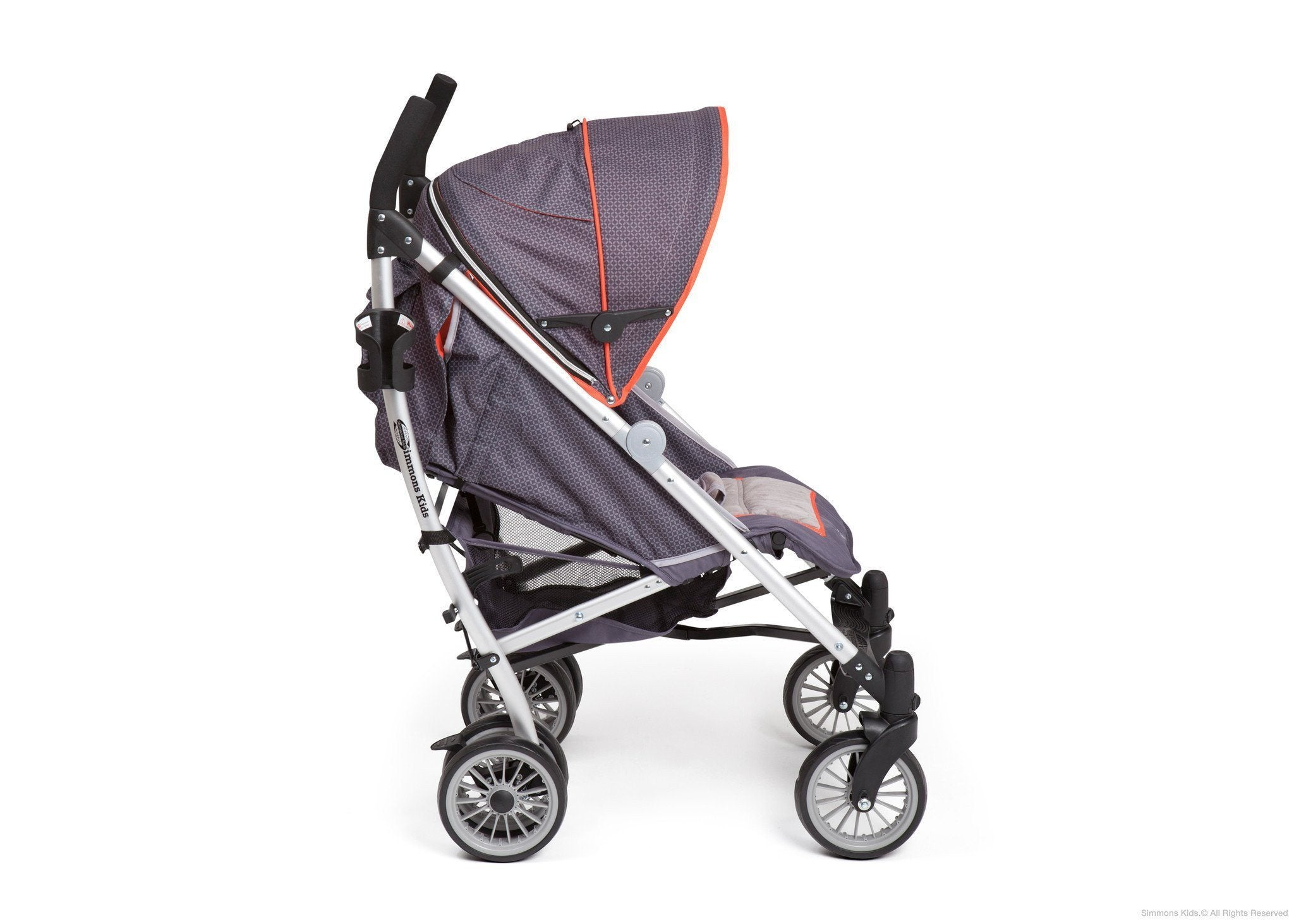 Simmons Kids Elite Comfort Stroller Side View Charcoal (029) a3a