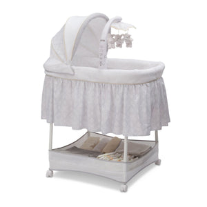 Delta Children Peacock (071) Slumber Time Elite Gliding Bassinet, Right Side View f1f