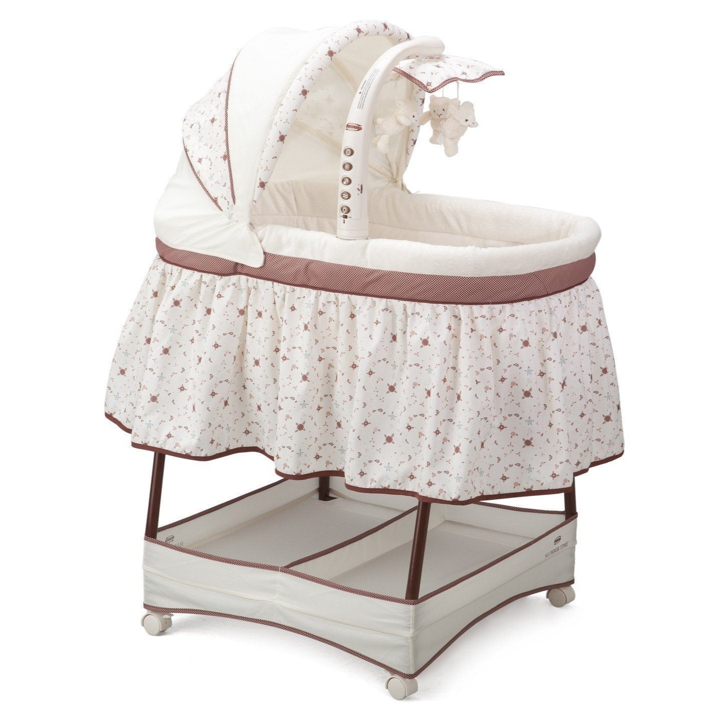 Delta Children Espresso Truffle (208) Slumber Time Elite Gliding Bassinet, Right Side View b1b