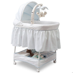 Delta Children Whisper (463) Slumber Time Elite Gliding Bassinet, Right Side View d1d