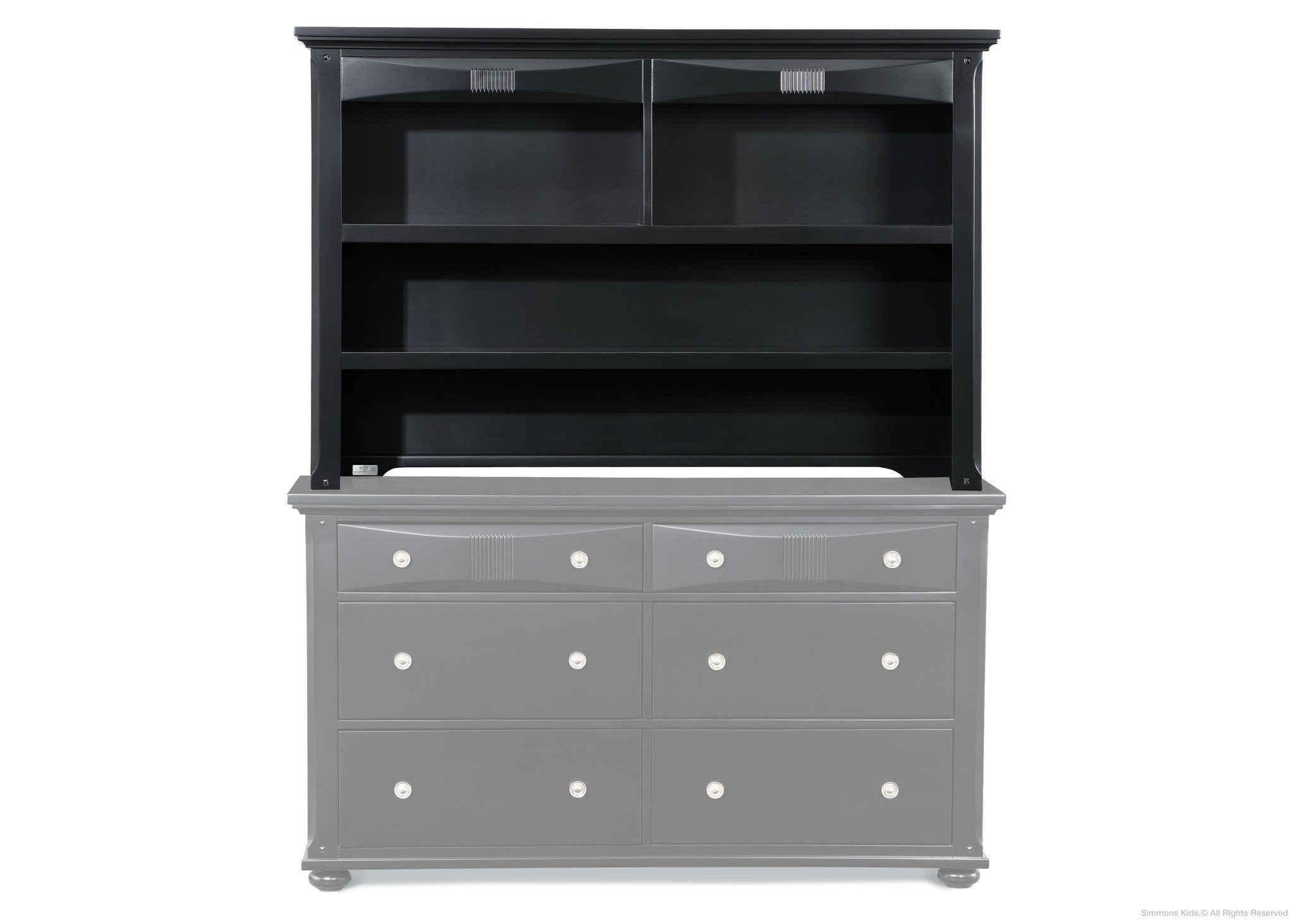 Simmons KidsBlack (001) Impressions Hutch, atop Impressions Double Dresser a3a