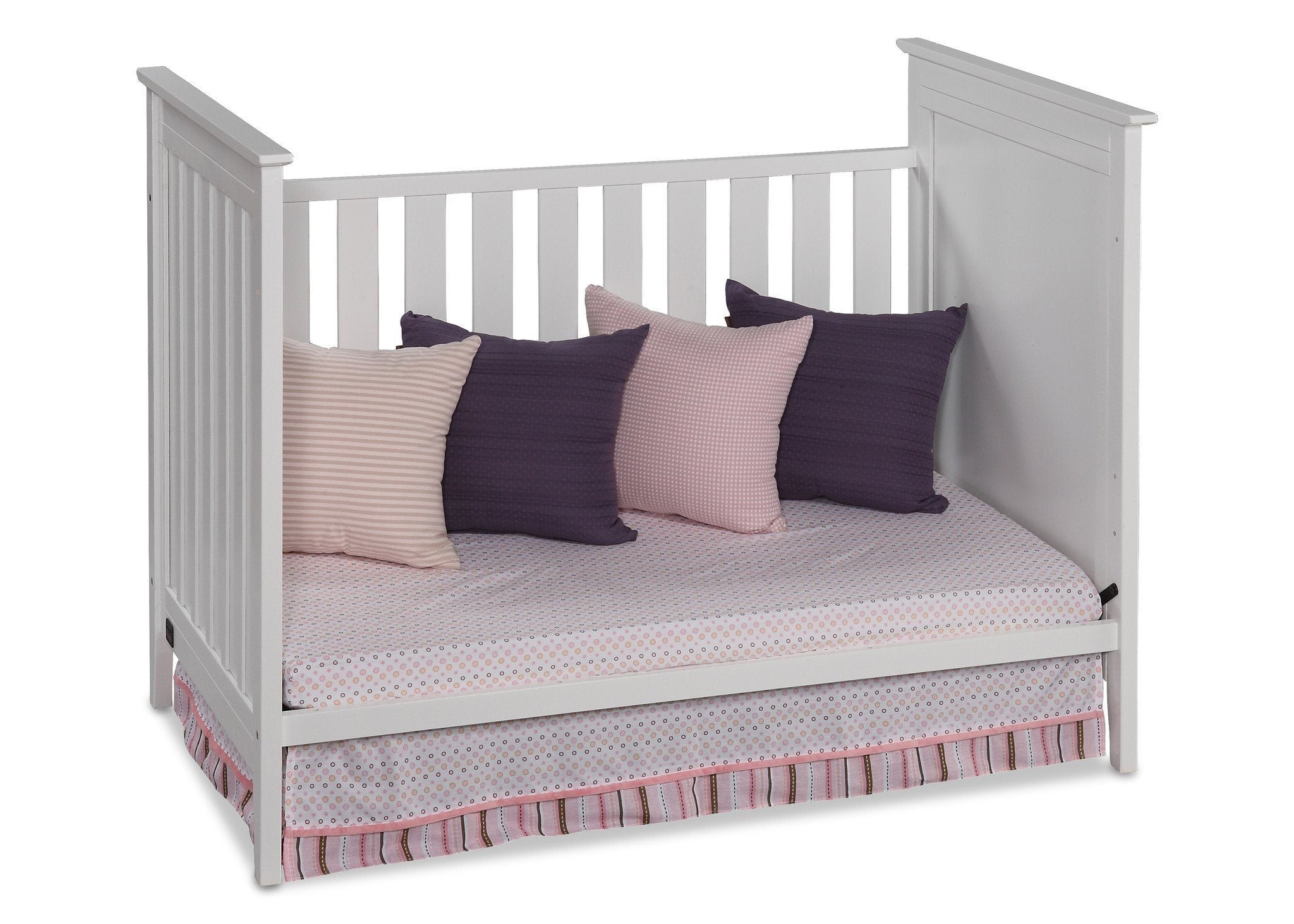 Simmons Kids White (100) Melody 3-in-1 Crib, Day Bed Conversion b3b